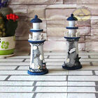 "Nautical decor(8.6""tall)Wood Beach Lighthouse Beaconhouse Ornament Figure SZ29"
