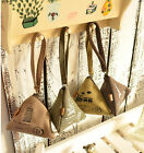 HOUS Cute Triangle Canvas Wallet Change Purse Coin Key Mini Buckle Pouch Handbag