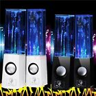 2X DANCING WATER STEREO MUSIC FOUNTAIN LED LIGHT SPEAKERS FOR IPHONE IPAD LAPTOP