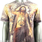 Minute Mirth T-Shirt Sz M L God Jesus Tattoo Graffiti Streetwear Funky Indie N2