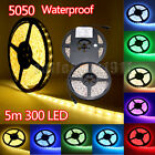 5M SMD 3528/5050 RGB LED Strip Light Waterproof Power Supply IR Remote Kit X'MAS