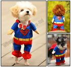 AMAZING SUPERHERO FANCY DRESS DOG COSTUME OUTFIT GIFT TOY