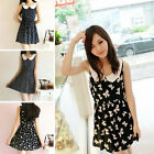 Korean Womens Girls Sweet Doll Collar Sleeveless One-piece Vest Slim Mini Dress