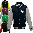 ADULTS VARSITY COLLEGE UNI BASEBALL JACKET - PLAIN or PERSONAL INITIAL LETTERMAN