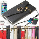 Leather Shockproof Dirt Dust Proof Zipper Wallet Hard Case Cover For iPhone 5S 5