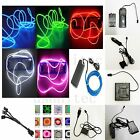 Neon Light Glow EL Wire Led Strip Tube Car Dance Party Bar Decoration+Controller