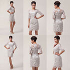 Applique Sexy Vintage Lace Bridesmaid Evening Mother Bride Gown Prom Party Dress