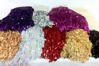 FRINGE- SEQUINS FRINGING TASSLE, various colours 24CM long tassel(appox) x1yard
