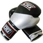 BLACK 'METALLICA' BOXING GLOVES FOR MUAY THAI SPORTS TRAINING