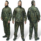 ASL Woody Camo Fishing Hunting Suit Waterproof Jacket Trouser Set Rainsuit