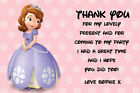 Personalised Sofia the First  Birthday Thank You Cards inc Envelopes (CBT3)
