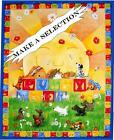 PLAYFUL SLEEPING  PUPPIES DOGS FABRIC PANELS (MAKE A SELECTION)
