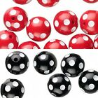 Lot of 6 Big 16mm Round Plastic Acrylic Polka Dotted Beads with White Spot Dots