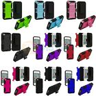 Hybrid Heavy Duty Rugged Case Cover Holster Stand for Apple iPhone 4 4S 4G