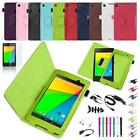 Folio PU Leather Case Cover Sleep/Wake For Google Nexus 7 2nd Gen 2013 Tablet