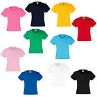 New Fruit of the Loom Kids Girls Value Cotton T Shirt in 12 Colours Ages 3-15
