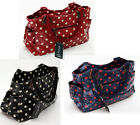 Polka Dot Faux Leather Oil Cloth Handbag Oilcloth Dots Tote Shopping Bag