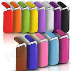 Magnet Button Premium PU Leather Pull Tab Pouch Case Fits Many Mobile Phones