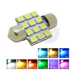 2X 31mm 12 LED 3528-SMD Festoon Dome Interior Light  MULTI-COLOR Bulb Map lamp