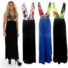 Women's Summer Stretch Leopard Animal Multicolour Strap Maxi Ladies Dress 8-14