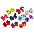 Lovely Baby Girls Red Pink Purple Yellow Blue Black White Polka Dots Hair Clip