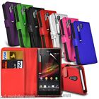 PU Leather Wallet Case Cover, Film & Retractable Pen Fits Various Mobile Phones