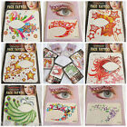 5 x Adult eye rock Fashionable Fun Temporary Eye Tattoos Fancy Dress UK Seller