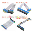 1X 16X 1X To 16X PCI-E Extension Cable PCI Riser Card W/ Power Connector BAAU