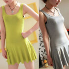 Summer Candy Lady Sleeveless Long Tank Vest Shirt Tops Mini Dress Sexy 10 Colors