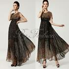 Summer Lady Chiffon Maxi Long Floral Party Prom Cocktail Evening Ball Gown Dress