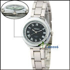 C8 US Womens Quartz Wrist Watch Luxury Fashion Black Band Classic Crystal Face