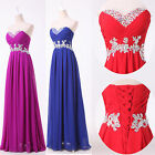 Strapless Long Chiffon Formal Celeb Ball Gowns Cocktail Evening Party Prom Dress