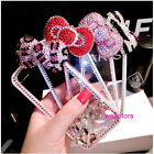 Color Bling Bow Diamonds Case Cover For Iphone 4 5S Samsung Note 2 3 i9300 i9500