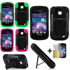 For Samsung Illusion I110 Galaxy Proclaim S720C Hybrid T-Stand Armor Case Cover