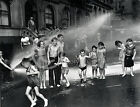 1937 Chidren Playing in Fire Hydrant Lower East Side Weegee Photo