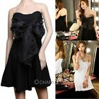 New Women Korean Sexy Bowknot Strapless Clubwear Party Evening Spring Mini Dress