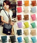 New Candy Color PU Bucket Bag One Shoulder Handbag Vintage Messenger Bag