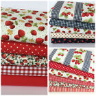 FAT QUARTER BUNDLES summer strawberries 100 % COTTON  fabric