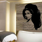 LARGE AMY WINEHOUSE CHEATED TROUBLE LYRICS BEDROOM WALL TRANSFER  STICKER DECAL