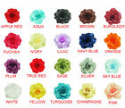 2 Pieces Satin Petal Flower Hair Clip MATCH GIRL DRESS ALL COLOR AVAILABLE
