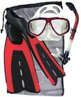Scuba Diving Snorkeling Package Aeris Velocity Fin Promate Mask and Snorkel