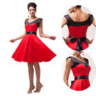 Newly Pinup Rockabilly 50s Vintage Style Prom Evening Cocktail Short Swing Dress