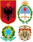 National Emblems and Royal Coat of Arms A5 or A4. iron on T-shirt Transfer *A-B*