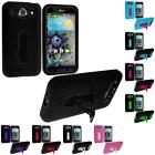 Color Hybrid Hard/Soft Heavy Duty Case Cover Stand for LG Optimus G PRO E980