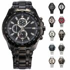 Fashion Stainless Steel Luxury Sport Analog Quartz Wrist Mens Watch
