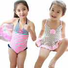 Girls Polka Dot Stripe Flower Bikini Kids Swimsuit Holiday Swimwear 2-8Y Tankini