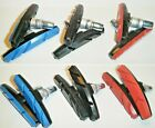 Mountain Road Bike 1 or 2 pair V brake blocks 3 colours Black Bicycle Pads Shoes