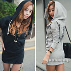 2014 New Women Casual Long Sleeve Zip Wing Print Coat Hoodie Sweater Mini Dress