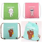 NEW JAPAN TOMY A.R.T.S. LINE APP CHARACTERS COTTON DRAWSTRING BACKPACK