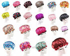 Fashion Solid/Dot Printed Shower Hat Waterproof Shower Cap Bathing Cap